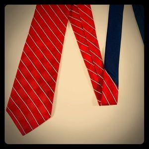 Tommy Hilfiger Red Blue Tie